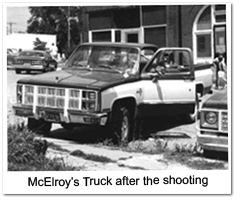 McElroy's Truck after the shooting